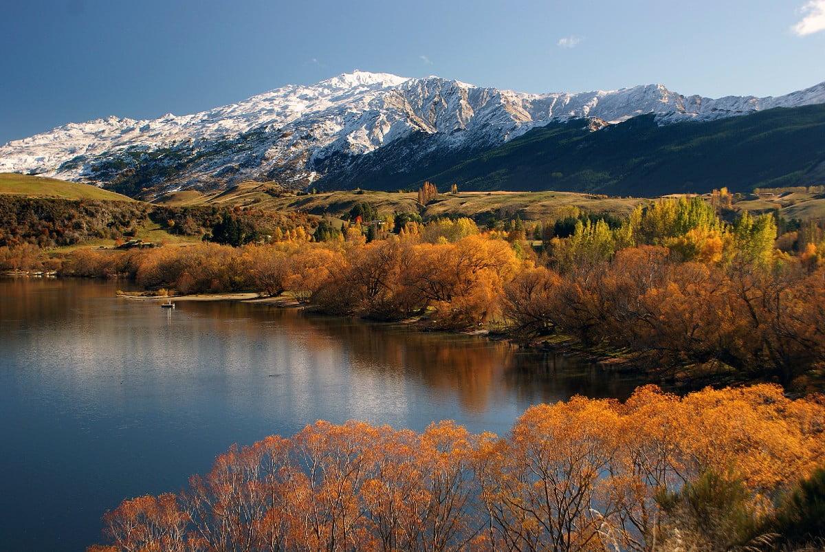 Lake Hayes and Coronet Peak, photo by Bernard Spragg
