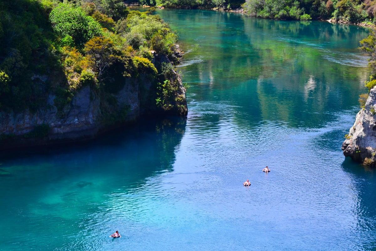 Aerial view of Waikato River, near Taupo. Photo by Adobe Stock / Rafael Ben-Ari/Chameleons Eye